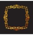 Elegant luxury retro floral gold frame vector image vector image