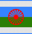 flag of romani people close up vector image vector image