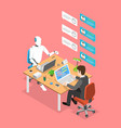 flat isometric concept chatbot ai vector image vector image