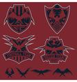 football team crests set with eagles design vector image