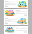 freelance and distant work web pages templates vector image vector image