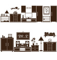 furniture sets eps10 vector image vector image