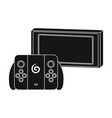 game console single icon in black style for design vector image vector image