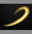 gold dust with shiny particles vector image vector image
