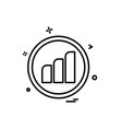 graph icon design vector image vector image