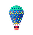 hot air ballon in flat style vector image
