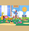 kids playing kindergarten class cute children vector image