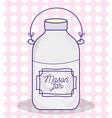 mason jar drawing vector image vector image