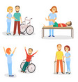 medical rehabilitation physical therapy healing vector image vector image