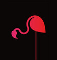pink flamingo minimalist style logo design vector image