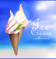 realistic sundae ice cream concept vector image vector image