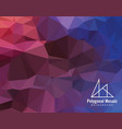 red purple blue polygonal mosaic background vector image