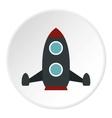 Rocket flies icon flat style vector image