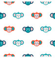 seamless pattern with monkey on white background vector image vector image