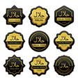 set luxury black halal food product labels vector image vector image
