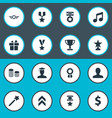 set of simple reward icons vector image vector image