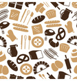 simple bakery items icons seamless color pattern vector image vector image