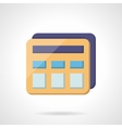 Simple calculator flat color icon vector image