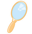 small mirror with handle vector image vector image