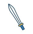sword antique weapon vector image vector image