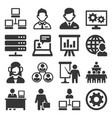 system administrator and operator icons set vector image vector image