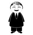 traditional asian businessman cartoon character vector image