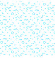 trendy geometric elements memphis pattern vector image