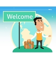 Vacation or business traveler character vector image vector image