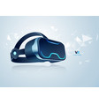 vr headset vector image vector image