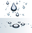 water droplets on glass vector image