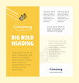 wheat business company poster template with place vector image