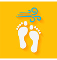 Flat Summer Footprints on the Beach vector image