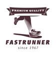 running legs with sport shoe logo design football vector image