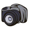 black camera icon cartoon vector image