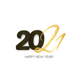 2021 happy new year hand drawn text lettering vector image vector image