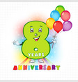 8 anniversary funny digits vector image