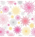 abstract floral vignettes seamless pattern vector image