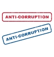 Anti-Corruption Rubber Stamps vector image vector image