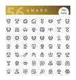 award line icons set vector image