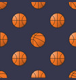 basket balls seamless pattern vector image