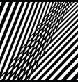 black and white abstract diagonal stripes pattern vector image vector image