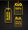 black friday labels set black friday sale clipart vector image vector image