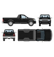 black pickup template vehicle branding mockup vector image vector image