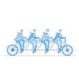businessmen ride bike partnership team riding vector image vector image