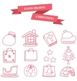 Christmas object icons collection stock vector image vector image