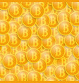 coins of bitcoins background vector image vector image