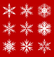 collectible set of snowflakes vector image