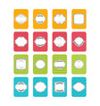 collection of stickers and labels in flat design vector image vector image