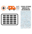 contraceptives blister icon with 1300 medical vector image
