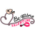cowboy valentine day country farm with cowboy vector image vector image